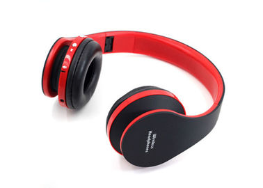 China Red / Black Wireless Stereo Headphones Over Ear Type Noise Reduction factory