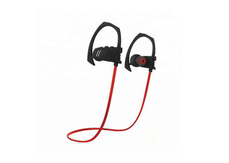 China Portable Waterproof Bluetooth Headphones Ergonomic Design Black / Red Color factory