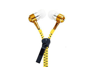China 10MM Speaker Earbuds With Zipper Cord 20Hz - 20KHz Frequency CE Approval factory